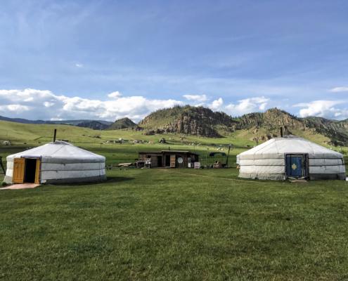 Mongolei, Übernachtung in einer mognolischen Jurte